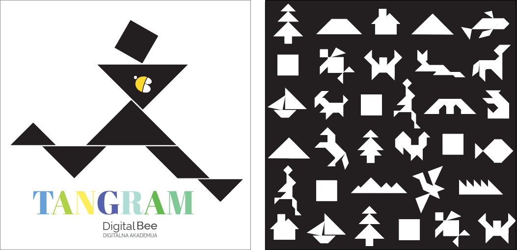 Concept and product design for Digital Bee Tangram